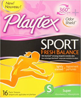 Playtex Sport Fresh Balance, Super, 16 ea