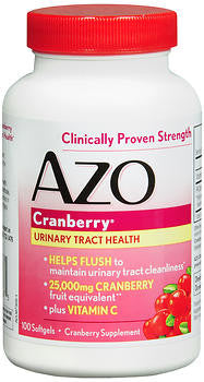 Amerifit Nutrition AZO Cranberry, Maximum Strength, 100 soft gels - PlanetRx