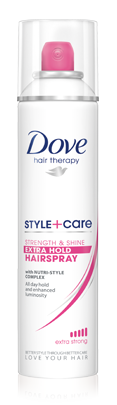 Dove Style+Care Strength & Shine Extra Hold Hairspray, 7 oz