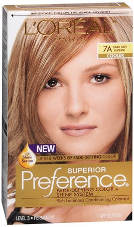 L'Oreal Preference   Dark Ash Blonde 7A