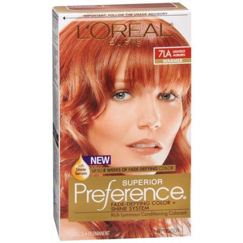 L'Oreal Preference Lightest Auburn 7LA