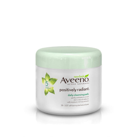 Aveeno Positively Radiant Daily Cleansing Pads, 28 ea