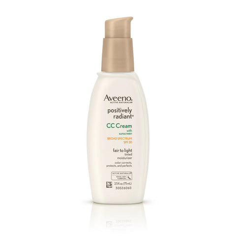 Aveeno Positively Radiant CC Cream SPF30, 2.5 oz