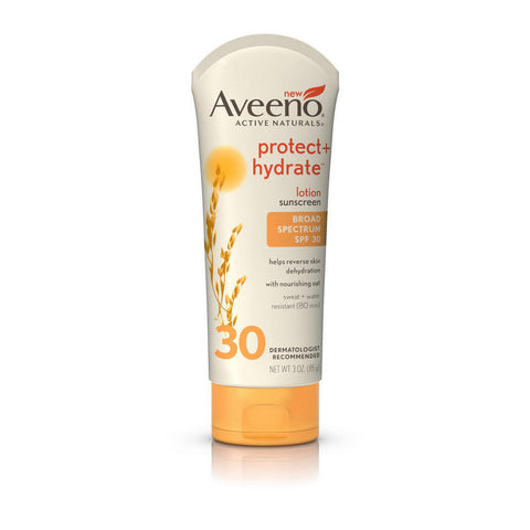 Aveeno Protect+ Hydrate Lotion Sunscreen SPF30, 3 oz
