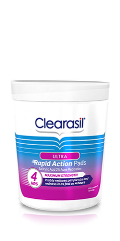 Clearasil Ultra Rapid Action Pads, 90 ea