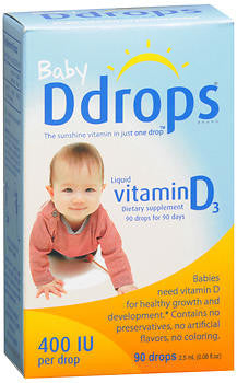 Baby Ddrops Liquid Vitamin D3 400 IU, 1.7ml
