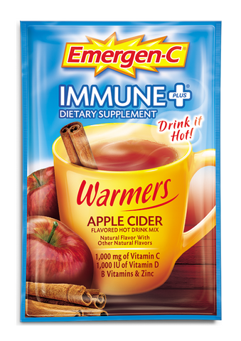 Emergen-C Immune+ Warmers Apple Cider, 10 packets
