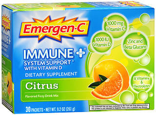Emergen-C Immune+ Citrus, 30 packets