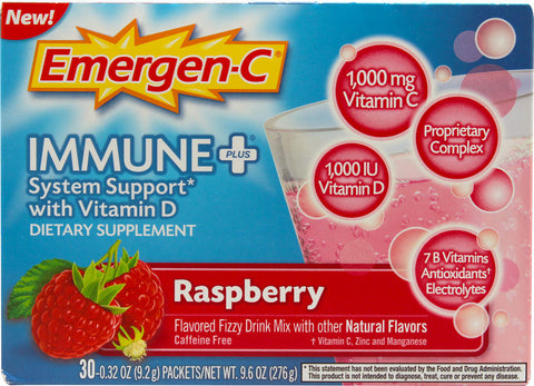 Emergen-C Immune+ Raspberry, 30 packets