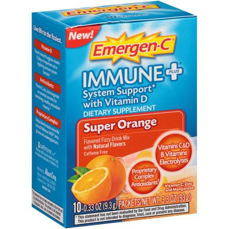 Emergen-C Immune+ Super Orange, 10 packets
