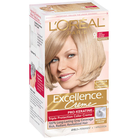 L'Oreal Excellence Creme  9 Natural Blonde