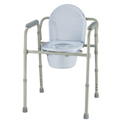 Roscoe Folding Commode with bucket and lid
