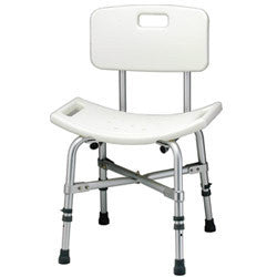 Roscoe Heavy Duty Shower Chair with Back, 500lb