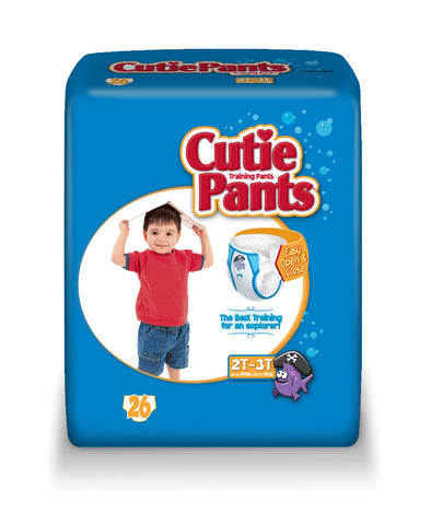 Cutie Pants Training Pants – Boy 2T-3T (Up to 34 lbs.), 4 Bags of 26 (104 ct)