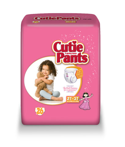 Cutie Pants Training Pants – Girl 2T-3T (Up to 34 lbs.), 4 Bags of 26 (104 ct)