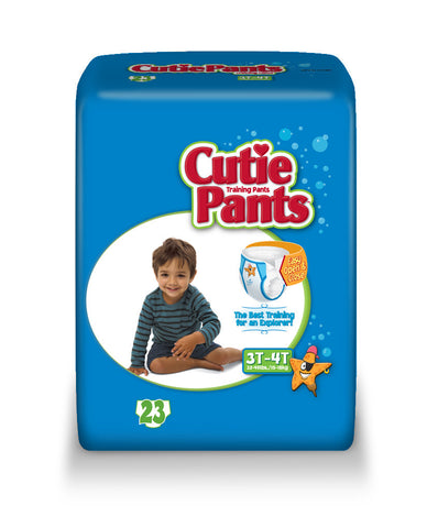 Cutie Pants Training Pants – Boy 3T-4T (32-40 lbs.), 4 Bags of 23 (92ct)