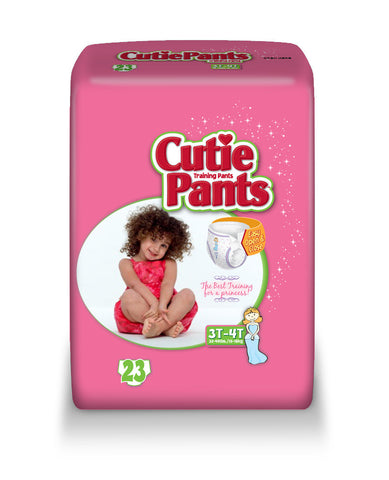 Cutie Pants Training Pants – Girl 3T-4T (32-40 lbs.), 4 Bags of 23 (92ct)