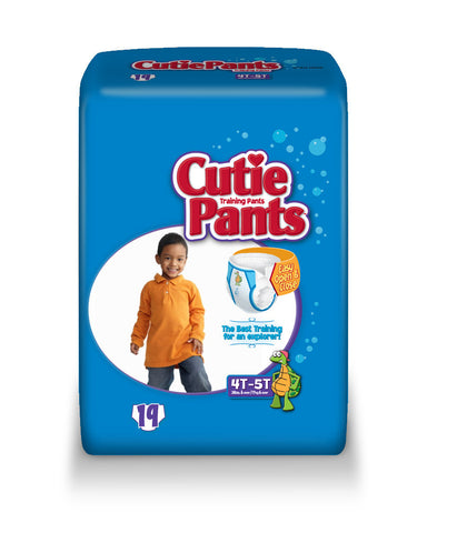 Cutie Pants Training Pants – Boy 4T-5T (38+ lbs.), 4 Bags of 19 (76ct)