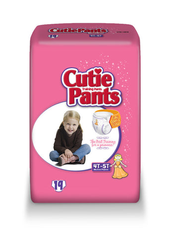 Cutie Pants Training Pants – Girl 4T-5T (38+ lbs.), 4 Bags of 19 (76ct)
