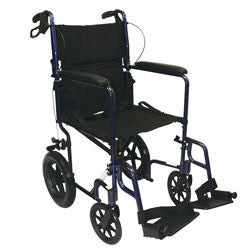 "Roscoe Transport Chair, 12"" rear wheels and"