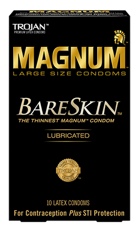 Trojan Magnum Bareskin Condoms, 10 pack