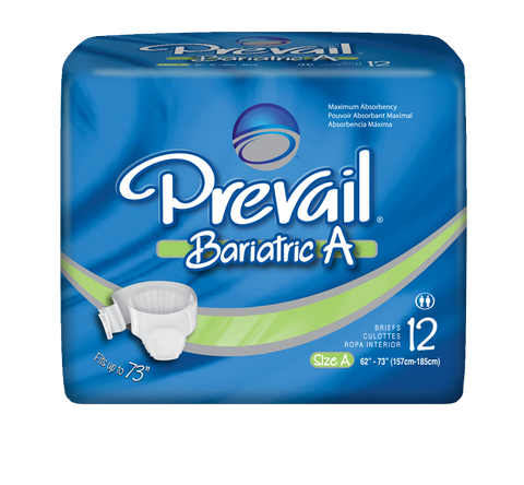 Prevail Brief Bariatric A, 4 packs 12 ea (48 ct)