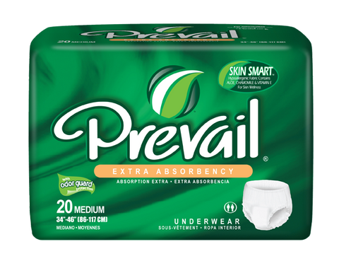 Prevail Protective Underwear Medium, 4 packs, 20 ea (80 ct)