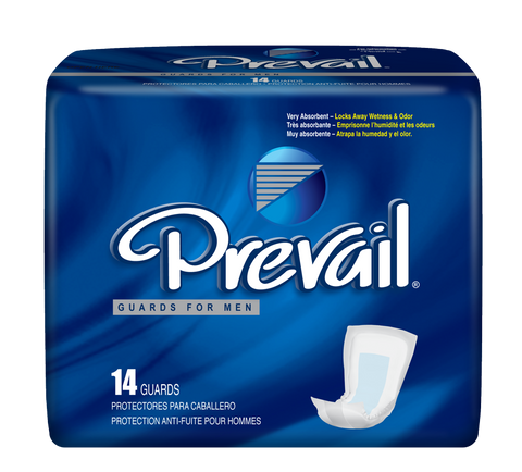 "Prevail Male Guard, 13""- 9 Bags of 14 (126 ct)"