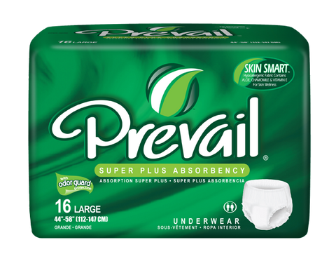 Prevail Protective Underwear Lg, 4 packs, 16 ea (64 ct)