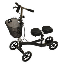 "Roscoe Knee Scooter Black, for patients 5'2"" to 6' 6"""
