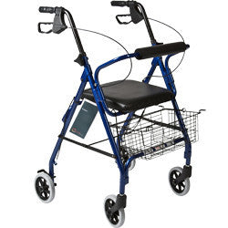 "Roscoe Rollator 6"" with basket and brakes blue"