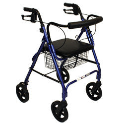 "Roscoe Rollator 8"" with basket and brakes Blue"