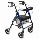 "Roscoe Rollator 8"" with basket and brakes Red"