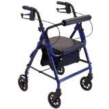 "Drive Rollator 6"" with seat height adjustment, deluxe red"