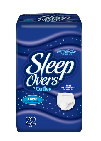 Sleep Overs Youth Pants – X-Large (85-140 lbs.), 4 Bags of 22 (88 ct)