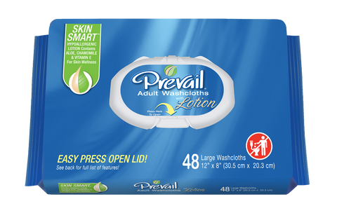Prevail Soft Pack with Press-N-Pull Lid, 12 Packs of 48 (576 ct)