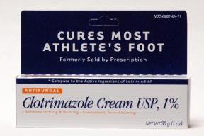Athlete Foot Relief, Clotrimazole Cream USP, 1%,, 30 gram