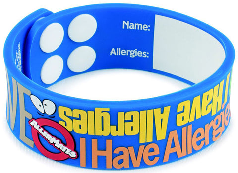 Allermates I Have Allergies SIlicone Bracelet - PlanetRx