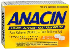 Anacin Pain Reliever, 30 tablets - PlanetRx
