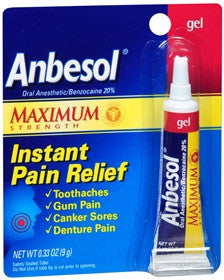 Anbesol Gel, Maximum Strength, 0.33 oz - PlanetRx