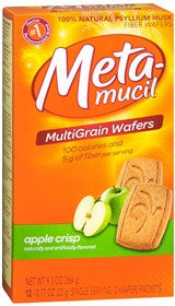 Metamucil Fiber Wafers, Apple Crisp, 24 ea