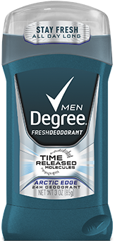 Degree Men Time Released Deodorant, Artic Edge, 3oz