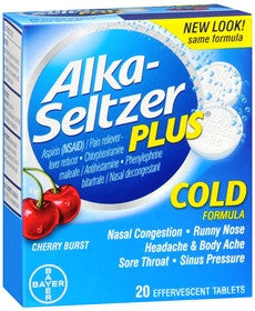 Alka-Seltzer Plus, Cold Formula, Cherry Burst, 20 tablets - PlanetRx