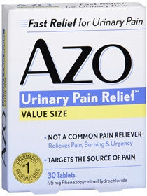 AZO Urinary Pain Relief, 30 tablets