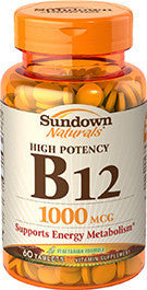 Sundown Vitamin B12 1000mcg, 60 tablets