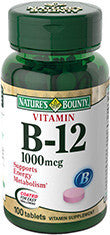 Nature's Bounty Vitamin B12 1000 mcg, 100 tablets