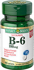Nature's Bounty Vitamin B6 100 mg, 100 tablets