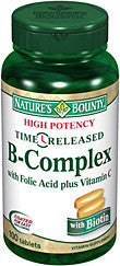 Nature's Bounty B-Complex with Folic Acid plus Viamin C, Time Released