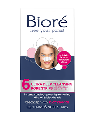 Biore Ultra Deep Cleaning Pore Strips, 6 ea
