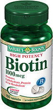 Nature's Bounty Biotin 1000mcg, 100 tablets